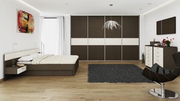 Vstavaná skriňa v spálni kombinovaná